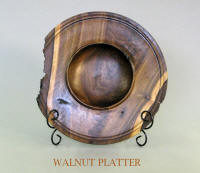 Decorative Walnut Wood Platter