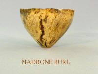 Madrone burl wooden bowl