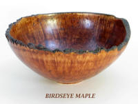 Birdseye maple wooden bowl