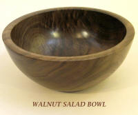 Walnut salad bowl wood turned